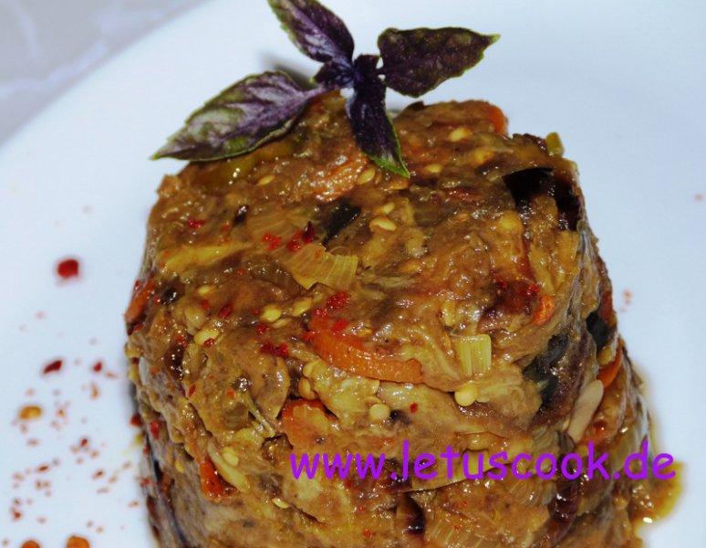Auberjinen-Karotten Salat