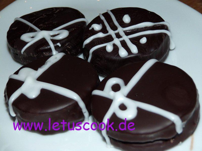 Dinkel-Schokoladen-Marmeladen-Taler