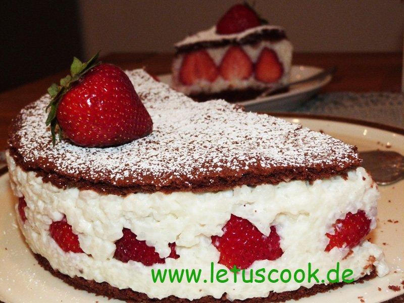 Erdbeer-Milchreis Torte