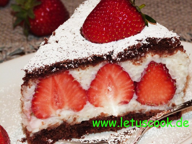 Milchreis-Erdbeer Torte