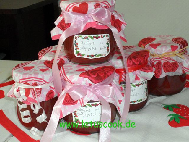 Erdbeer-Nektarinen Konfitüre