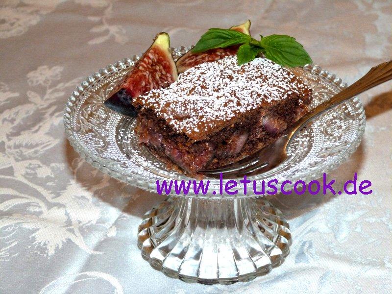Hafer-Feigen-Kaffee Kuchen