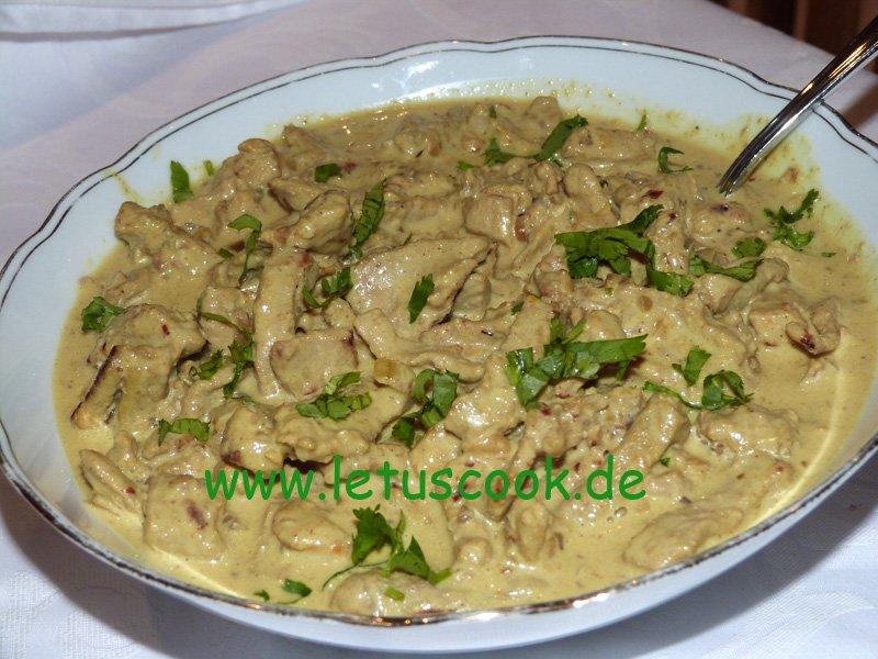 Fleisch-Kokosmilch Pfanne