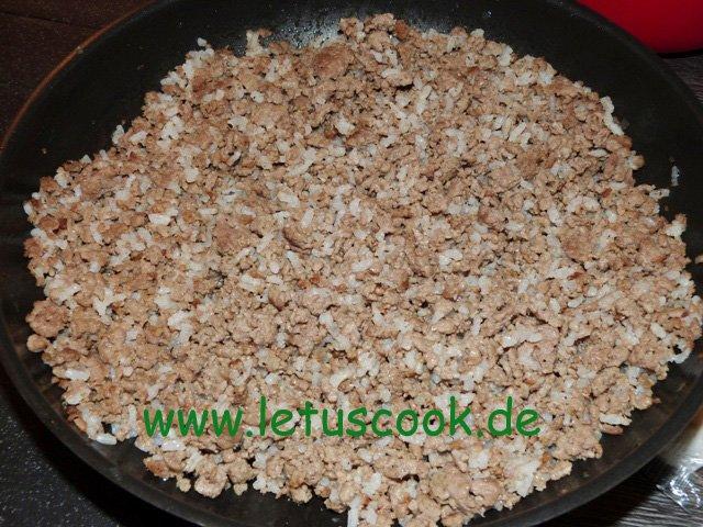 Hackfleisch Reis