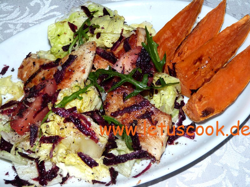 Hähnchen-Süßkartoffel-Salat