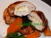 Hähnchenrolle mit Hummus-Käse Füllung