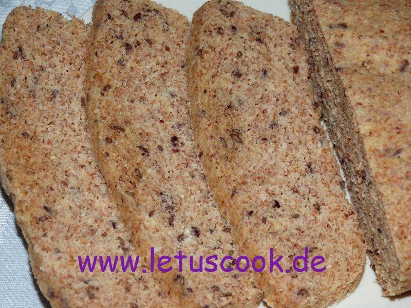 Haferkleie-Leinsamen-Brot