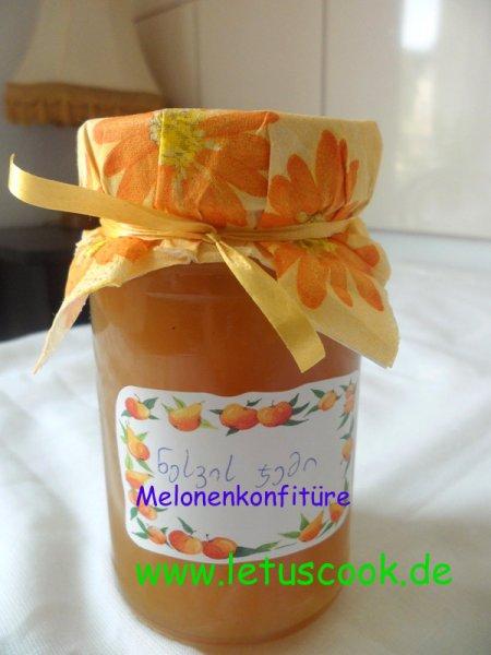 Honigmelonen-Zitronen Konfitüre