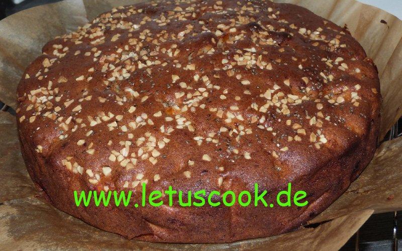 Kaki-Mandel Kuchen