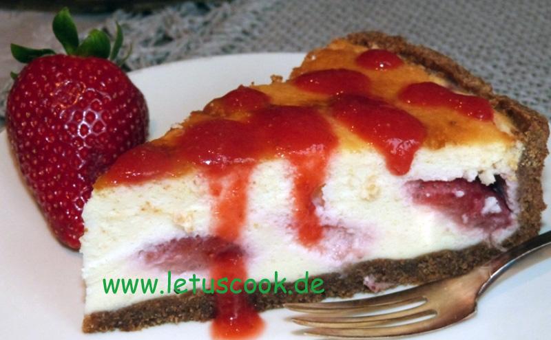 Käse-Erdbeer Torte