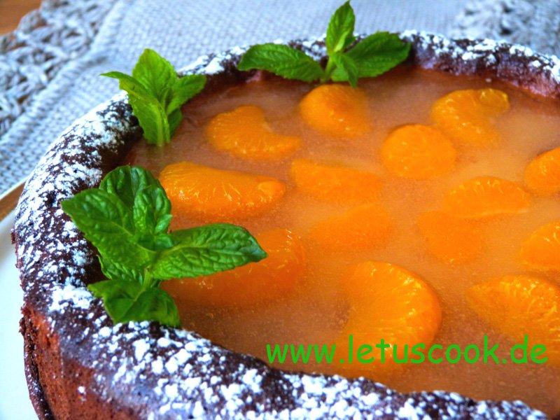 Mandarinen-Käsekuchen mit Haferflocken