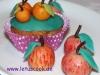 mandel-apfel-muffins mit Marzipanäpfeln