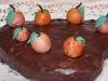 Mandel-Apfel Torte mit Marzipanäpfeln