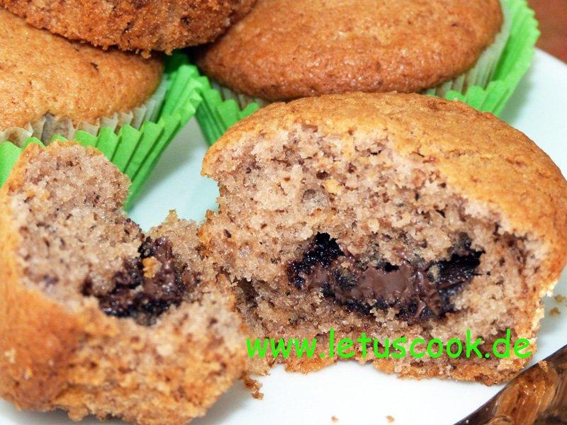Nutella-Nuss Muffins