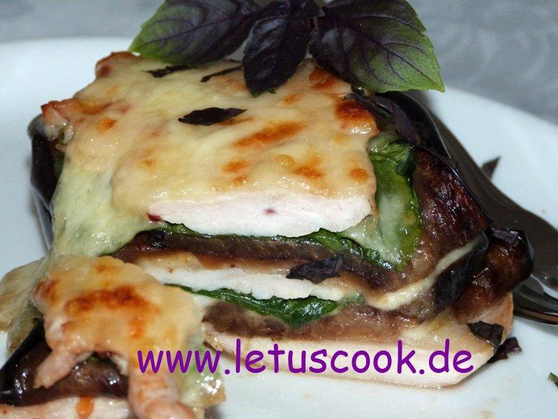 Putenschnitzel-Lasagne