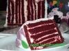 Red velvet vertical layer cake