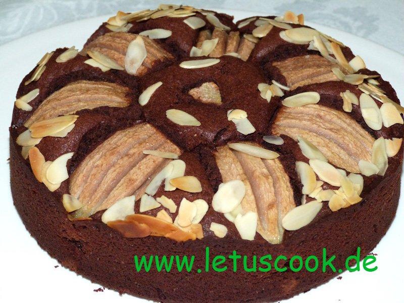 Birnen-Schoko Torte