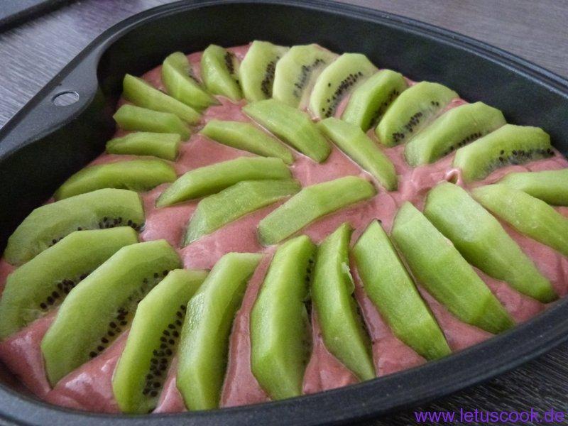 Schoko-Kiwi Kuchen-Vorbereitung