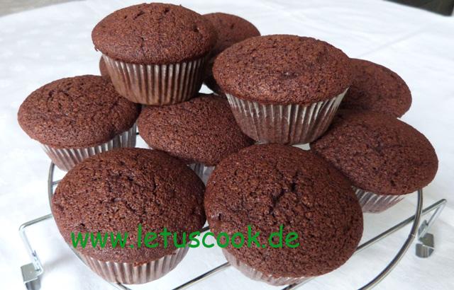 Schoko-Mandel-Erdbeermus Muffins