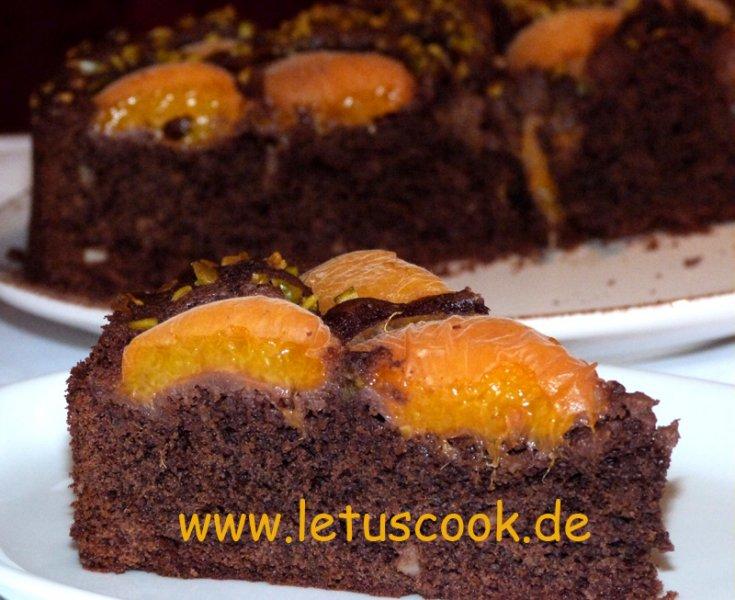Schoko-Aprikosen Kuchen