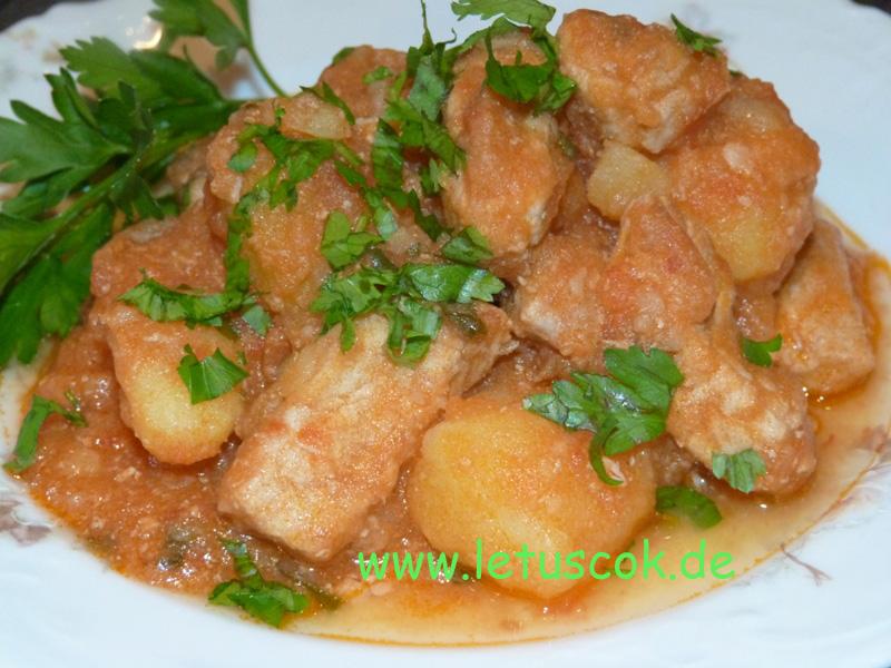 Schweinefleisch-Kartoffeleintopf