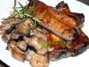 Schweinerippchen mit Rosmarin-Champignons