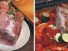 Schweinerücken mit Gemüse