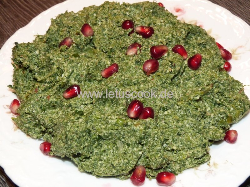 Spinat-Walnuss Salat