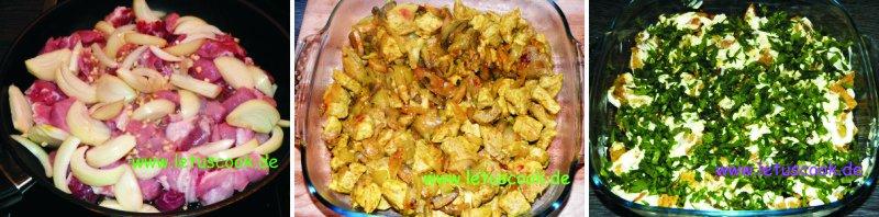 Fleisch-Süßkartoffel Auflauf