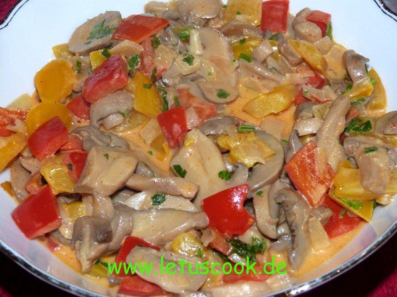 Thai Champignon-Paprika Pfanne
