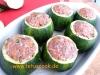 Überbackene Zucchini mit Hackfleischfüllung
