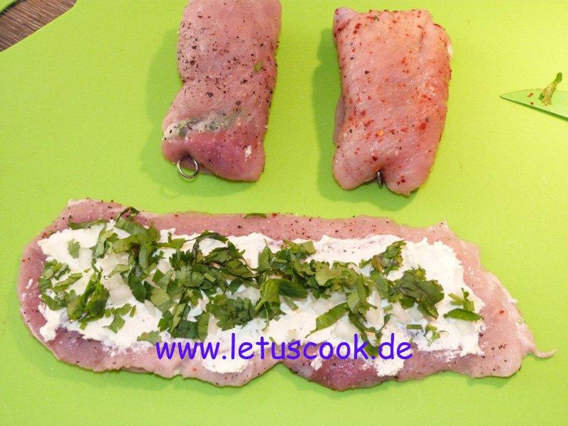 Fleischrollen mit Käse