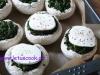 Champignons mit Spinat