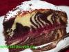 Zebra-Himbeer Torte