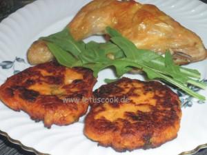 Süßkartoffeln-Kichererbsen Bratlinge