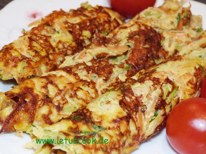 zucchini karotten omelette let us cook. Black Bedroom Furniture Sets. Home Design Ideas
