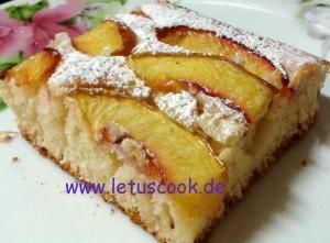 Nektarinen-Kuchen