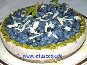 Heidelbeer-Kaese Torte