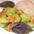 Rosenkohl-Zucchini Pfanne