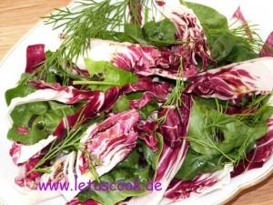Radicchio-Spinat Salat