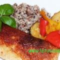 Ofenente mit Buchweizen und Gemüse