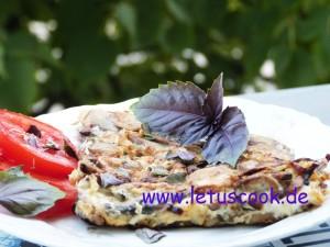Champignon-Zwiebel Omelette