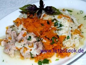 Fleisch-Karotten-Reis Eintopf