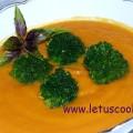 Süßkartoffel-Karotten Cremesuppe