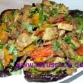 Fleisch-Paprika Pfanne